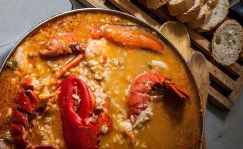 Arroz caldoso con bogavante receta facil